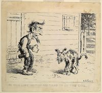 'He made some hootch and tried it on the dog' by Arthur Burdett Frost, published 1921